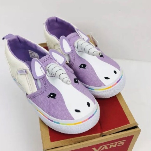 fd0bff60d6d NEW Vans Unicorn Toddler Girls Slip On Shoes - 8.5